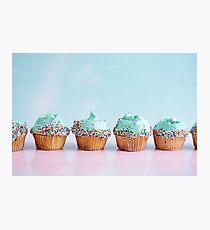 Blue Cupcakes Photographic Print