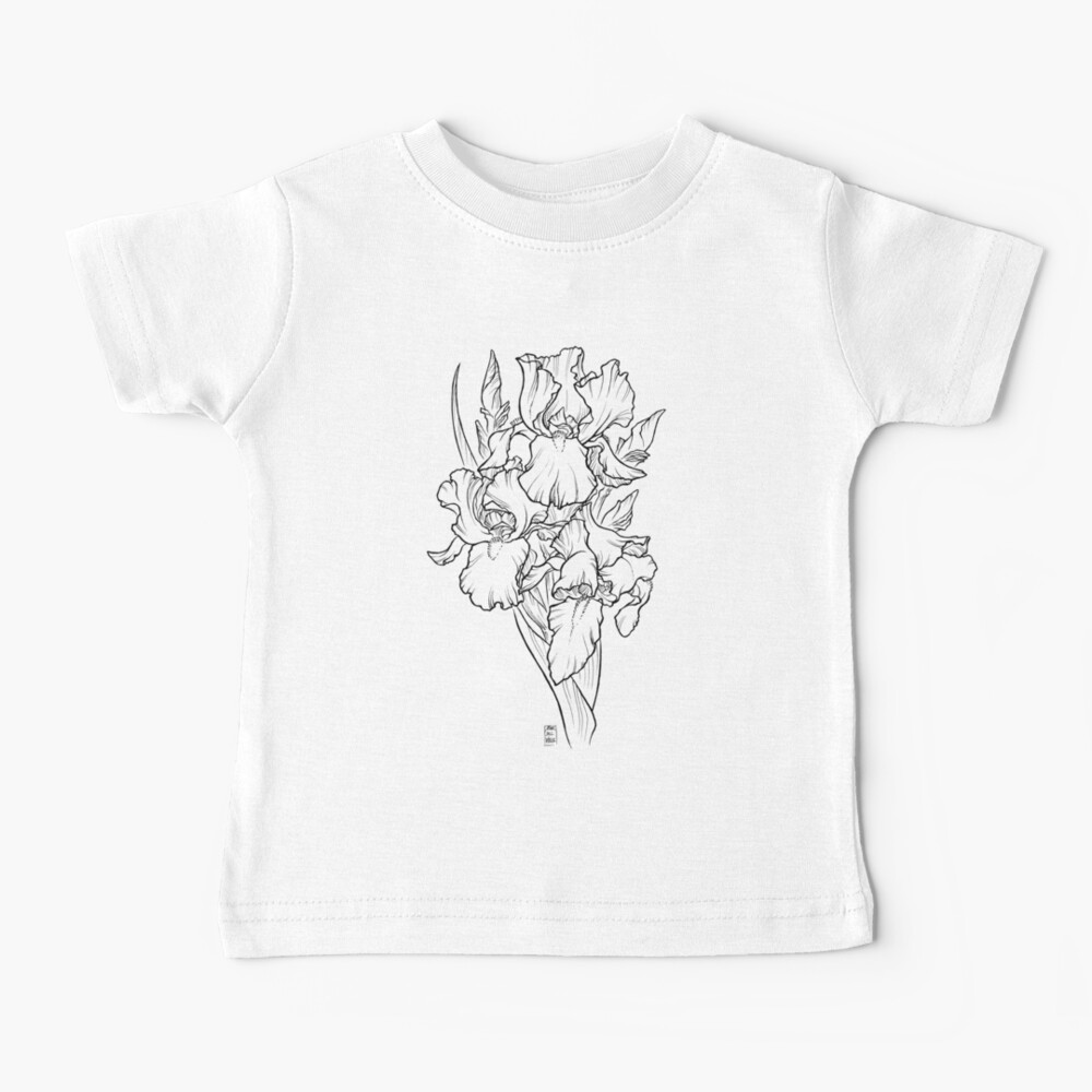 Irises - Black Line Baby T-Shirt