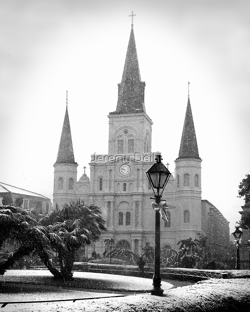 St. Louis Cathedral Snow by Jeremy Deihl
