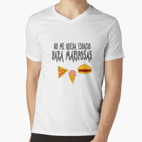 COMIDA ANTES QUE MARIPOSAS Camiseta de cuello en V