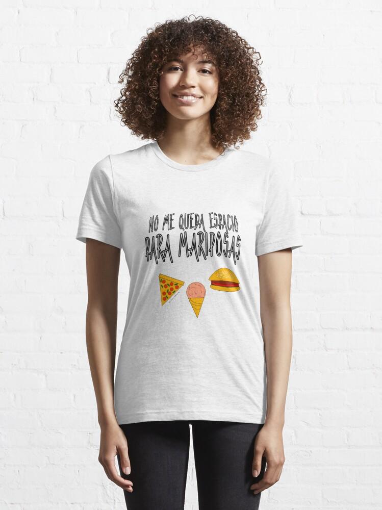 Vista alternativa de Camiseta esencial COMIDA ANTES QUE MARIPOSAS