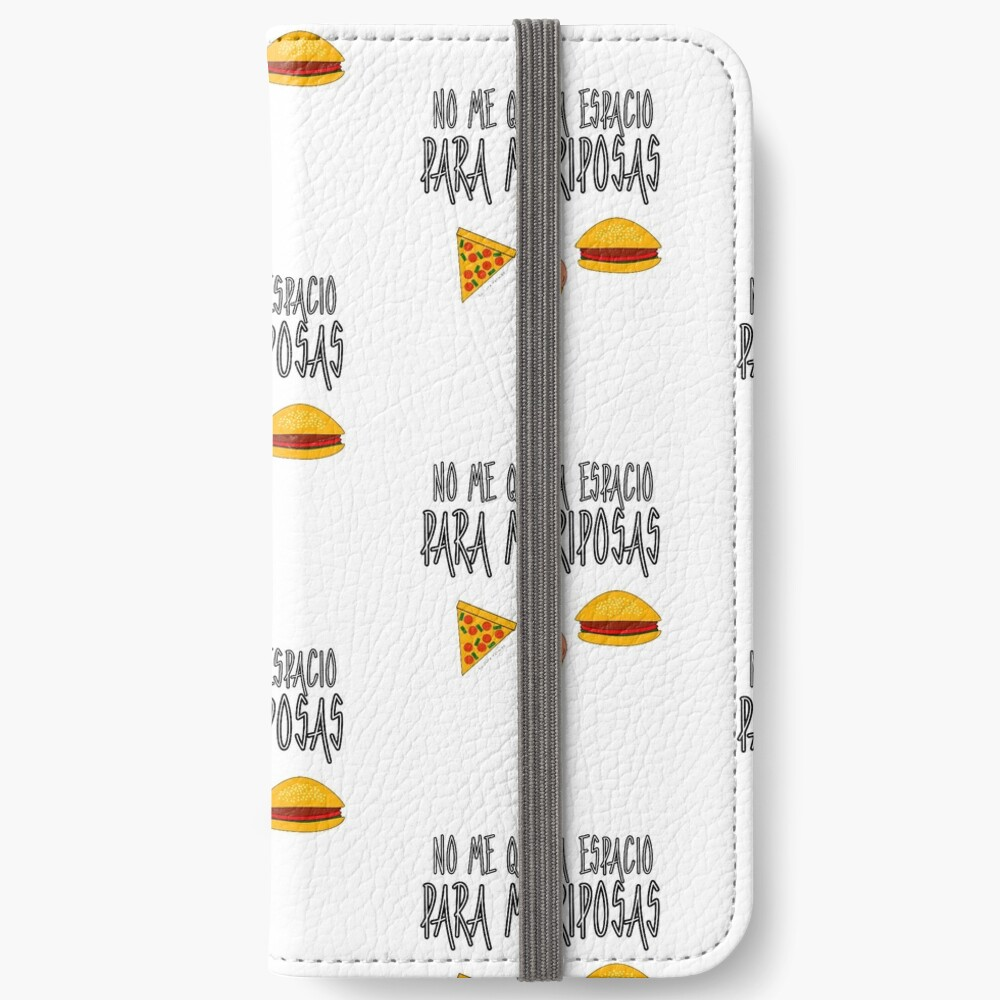 COMIDA ANTES QUE MARIPOSAS Fundas tarjetero para iPhone