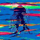 Blue Jellyfish Paintbrush by Pepe Psyche