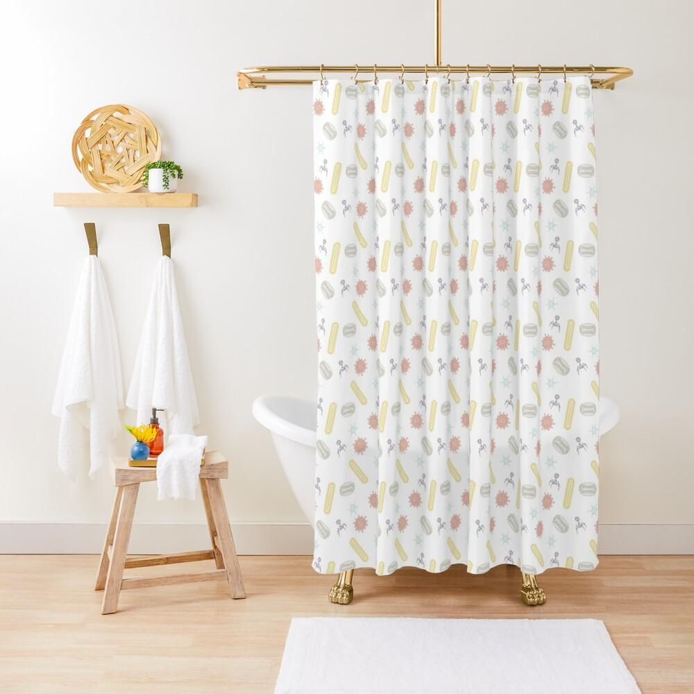 Going Viral Shower Curtain