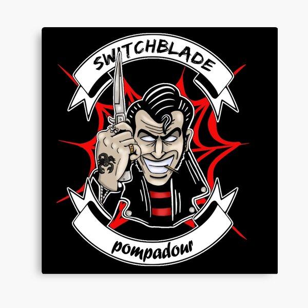 switchblade pompadour greaser design Canvas Print