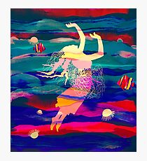 Ocean Woman Jellyfish Photographic Print
