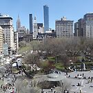 Aerial View, Union Square, Midtown Manhattan Skyline, New York City by lenspiro