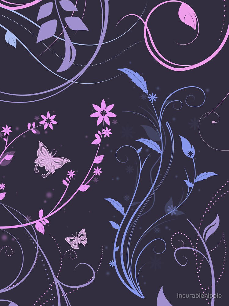 Floral Swirls and Butterflies by incurablehippie