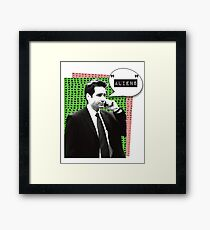 Fox Mulder Aliens Framed Print