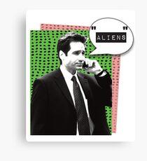 Fox Mulder Aliens Canvas Print