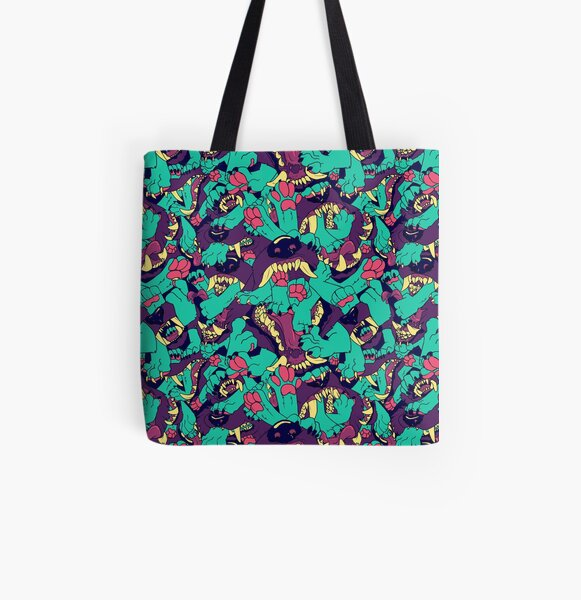 Paws in Maws All Over Print Tote Bag
