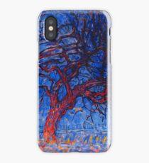 HD Evening; Red Tree (Avond; De rode boom), by Piet Mondrian 1908 HIGH DEFINITION iPhone Case