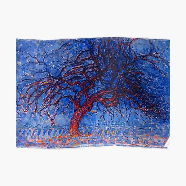 HD Evening; Red Tree (Avond; De rode boom), by Piet Mondrian 1908 HIGH DEFINITION Poster
