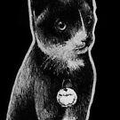 Leucism: Domestic Cat, Russian Blue by NoelleMBrooks