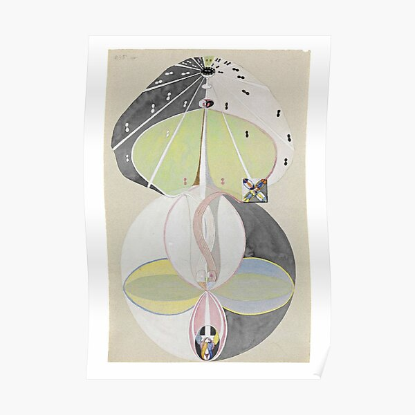 HD Tree of Knowledge No. 5, by Hilma af Klint 1907 HIGH DEFINITION Poster