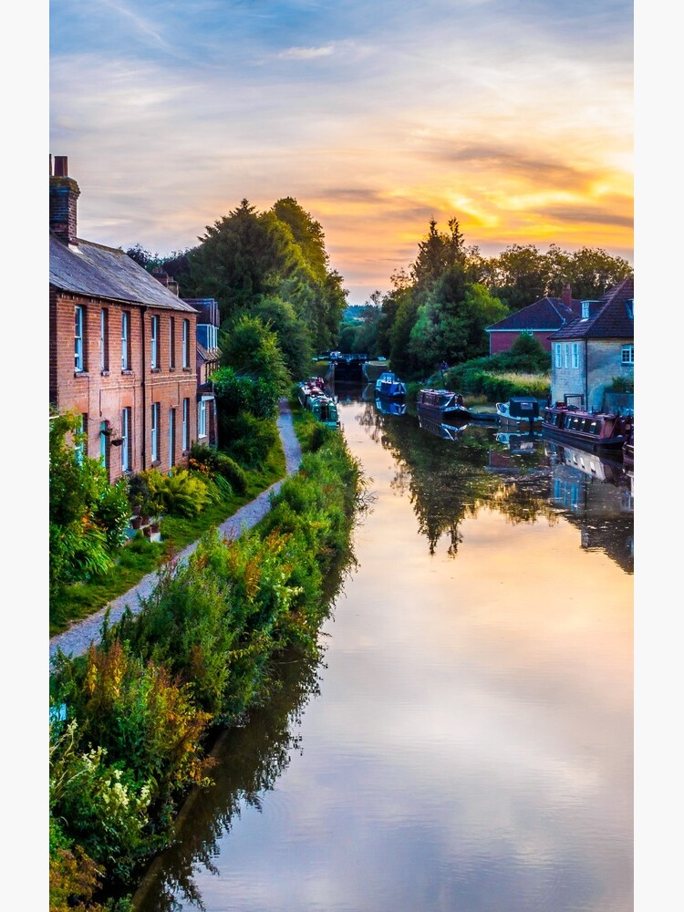 Hungerford Canal Sunset by mlphoto