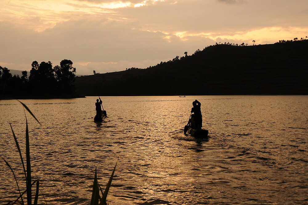 Finished for the Day - Lake Bunyoni, Uganda by Derek McMorrine