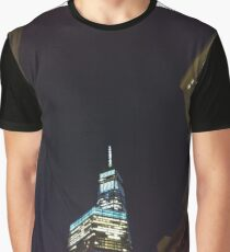 Building, Skyscraper, New York, Manhattan, Street, Pedestrians, Cars, Towers, morning, trees, Spring, flowers, Brooklyn Graphic T-Shirt