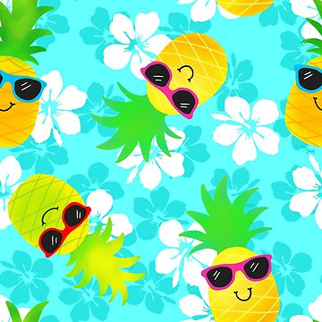 Cool Summer Tropical Pineapples  by ArtVixen
