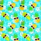 Cool Summer Tropical Pineapples  by ArtVixen