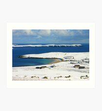 Levenwick, Shetland Islands, Scotland Art Print