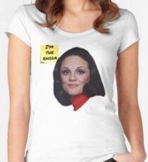 Camiseta entallada de cuello ancho Show de Rhoda-Mary Tyler Moore