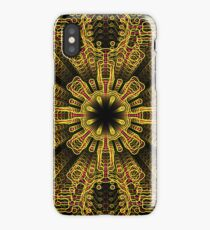 Abstract repeating ornate geometric luxury 3d pattern iPhone Case