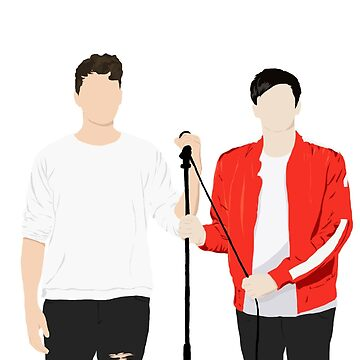 Dan and Phil Interactive Introverts Silhouette by lindsaygreth