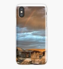 Rainbow Over The Badlands iPhone Case