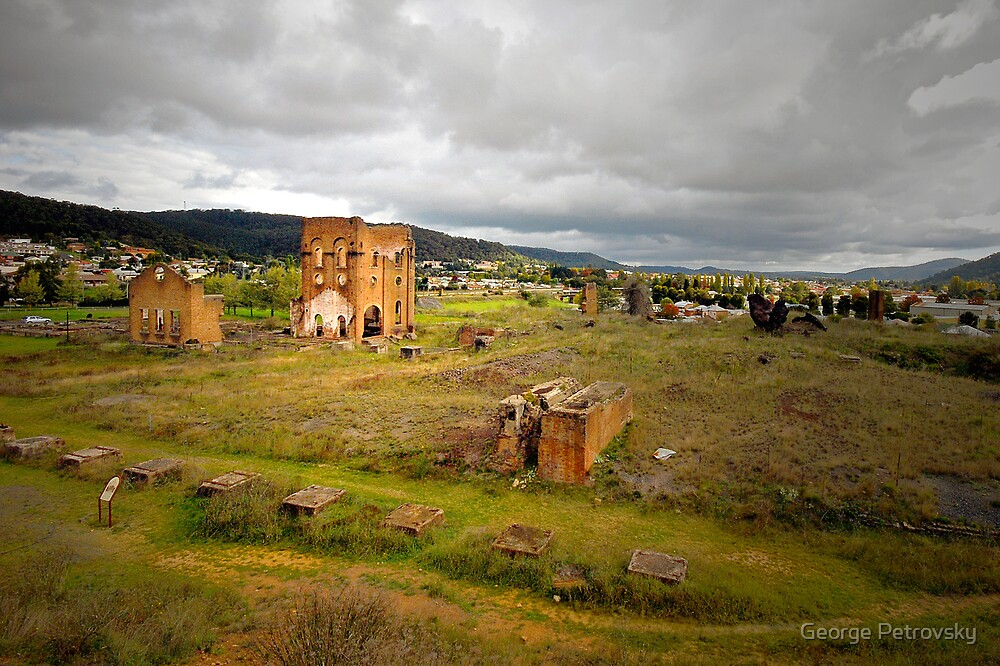 Blast Furnace Ruins, Lithgow NSW by George Petrovsky