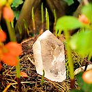 magical crystal quartz shines bright in a lovely nature place by Lilaviolet