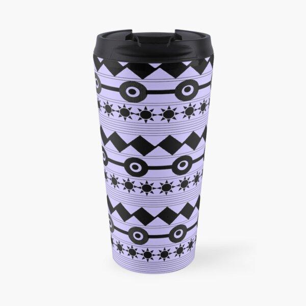 Contemporary Zigzag Design-Blue Travel Mug