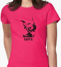 NO-KILL UNITED : ES LOVE Womens Fitted T-Shirt
