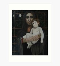 Madonno with child - Madonno con bambina Art Print