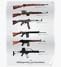 Militärgewehre von Deutschland Poster