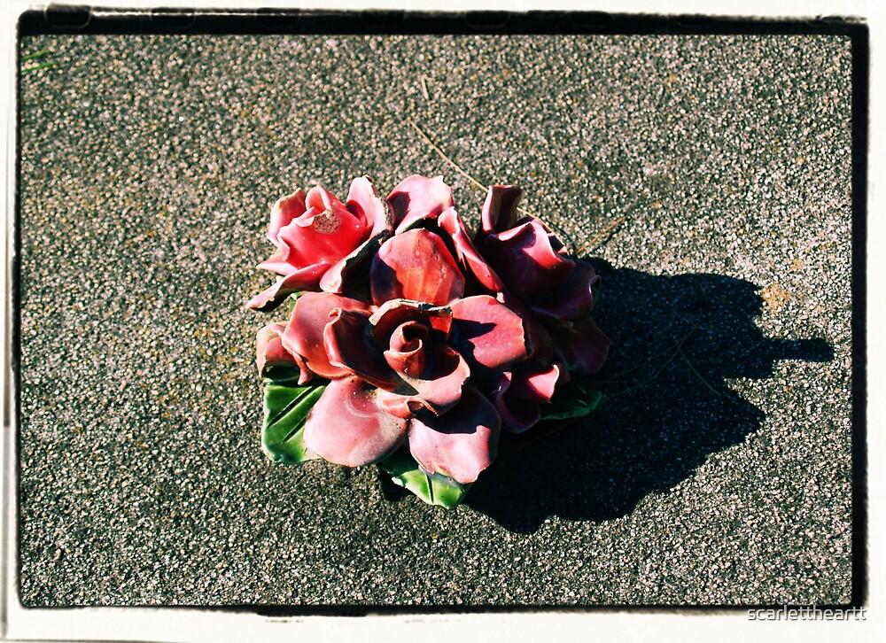 on a grave by scarlettheartt