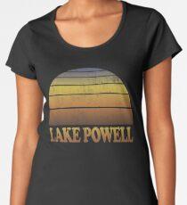 Vintage Lake Powell Sonnenuntergang Shirt Premium Rundhals-Shirt