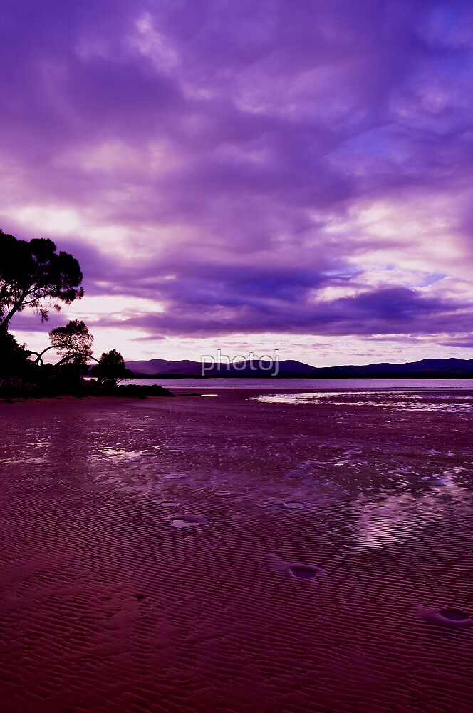 photoj Tas, Hawley Beach, Late Sunrise Effects by photoj
