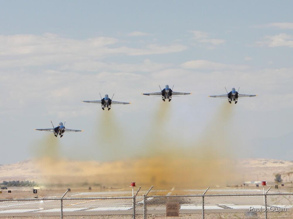 Blue Angels - Gear Up... by Paul J. Owen