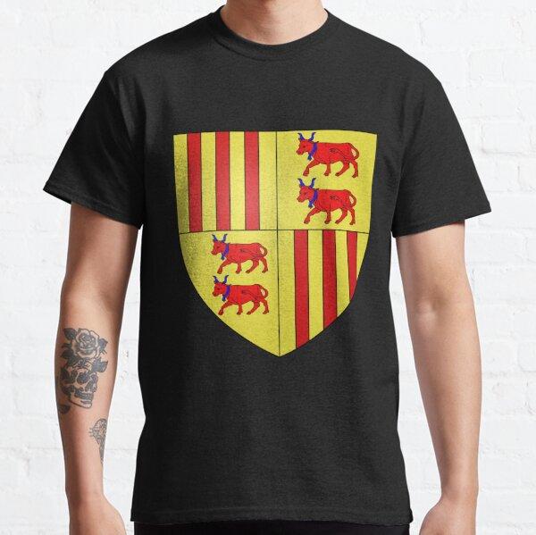 French France Coat of Arms 1222 Blason de Foix Béarn  Classic T-Shirt