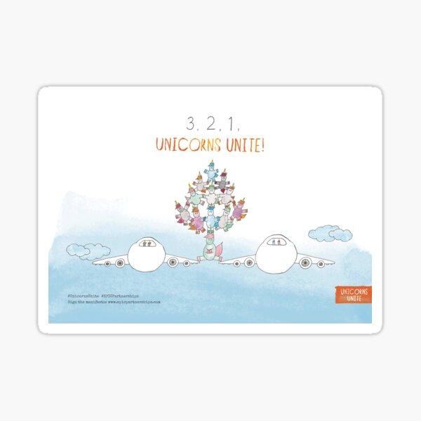 3, 2, 1, Unicorns Unite! Sticker