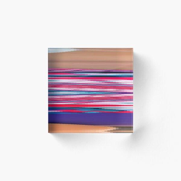Hip, modish, astonishing, amazing, surprising, wonderful,   Remarkable, extraordinary Acrylic Block