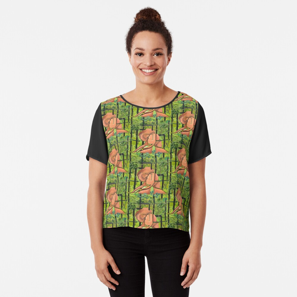 Enchanted Forest Chiffon Top