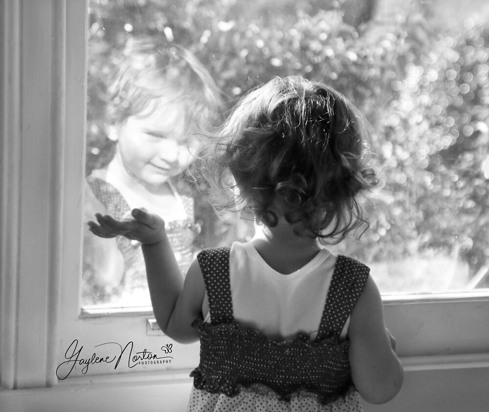 reflected child image by Gaylene Norton
