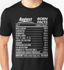 August Birthday Facts Gifts Merchandise