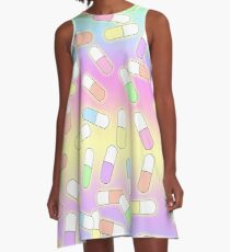Pills and potions - pastel A-Line Dress