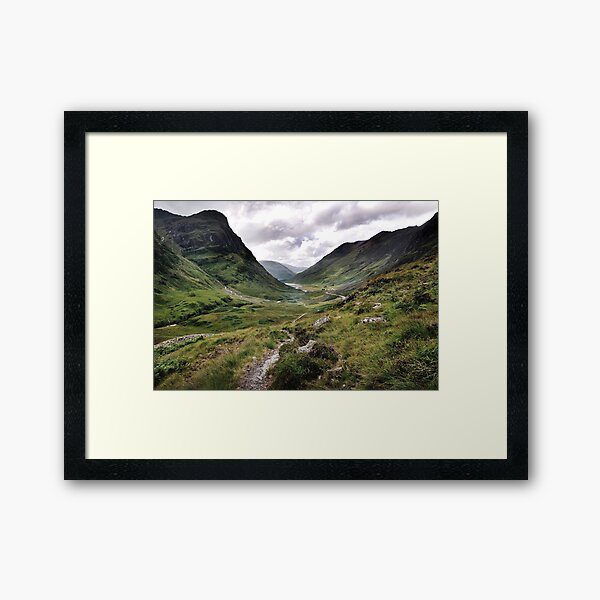 Glencoe, Highlands of Scotland Framed Art Print