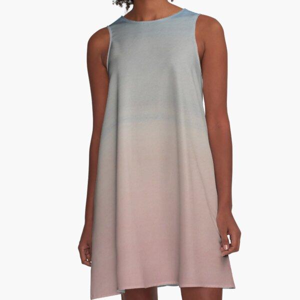 Watercolour sunset A-Line Dress