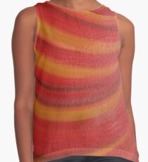 Abstract Painting Red and Orange Contrast Tank