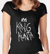 King Kunta Tee White | Kendrick Lamar Women's Fitted Scoop T-Shirt